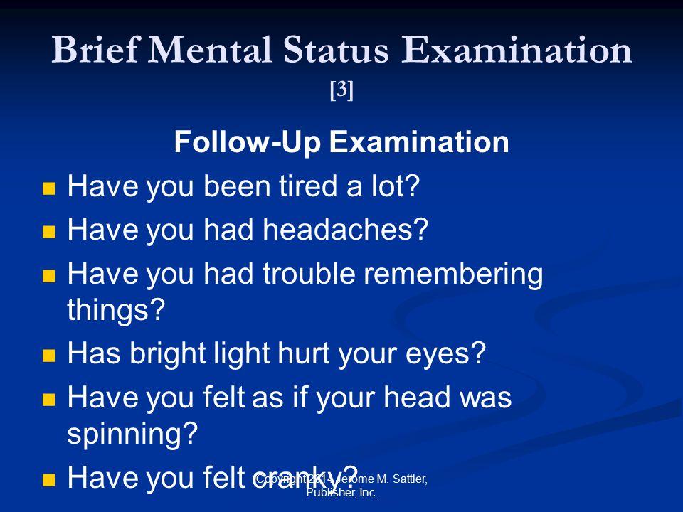 Brief Mental Status Examination [3]